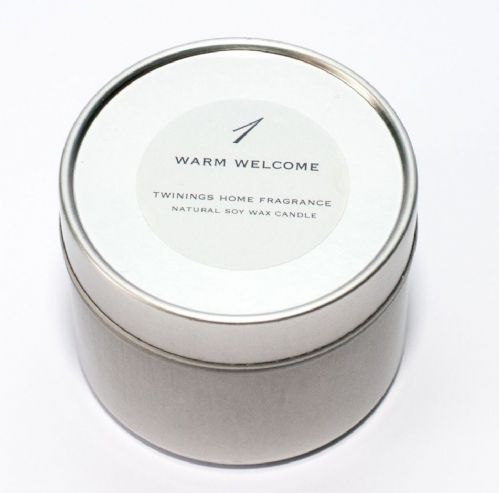 Warm Welcome Tin Candle